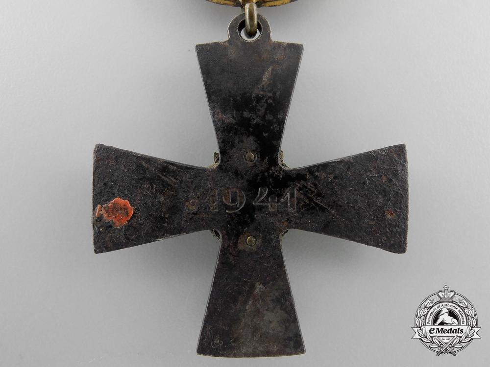Finland, Republic. An Order of the Cross of Liberty, III Class Gold Cross 1941