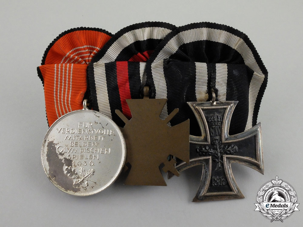 A First and Second War German Olympic Games Medal Bar
