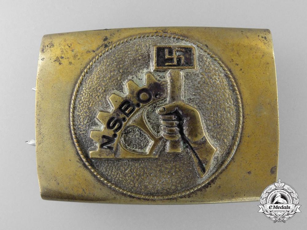 An NSBO (National-Socialistiche Betreibs Organisation) Belt Buckle