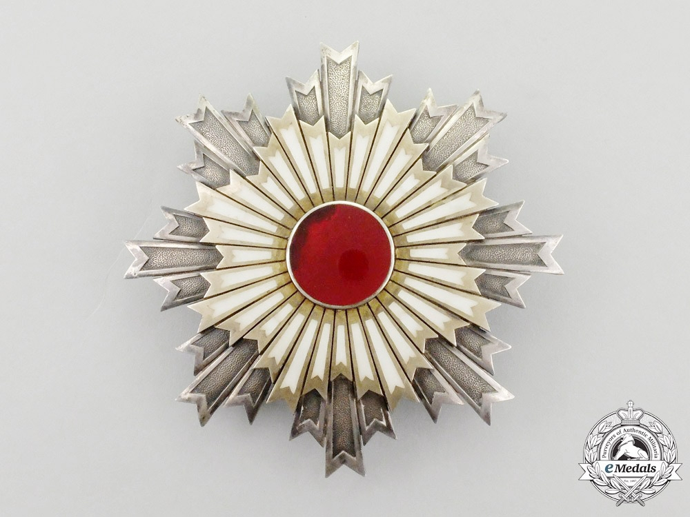 A Japanese Order of the Rising Sun; 1st Class Breast Star