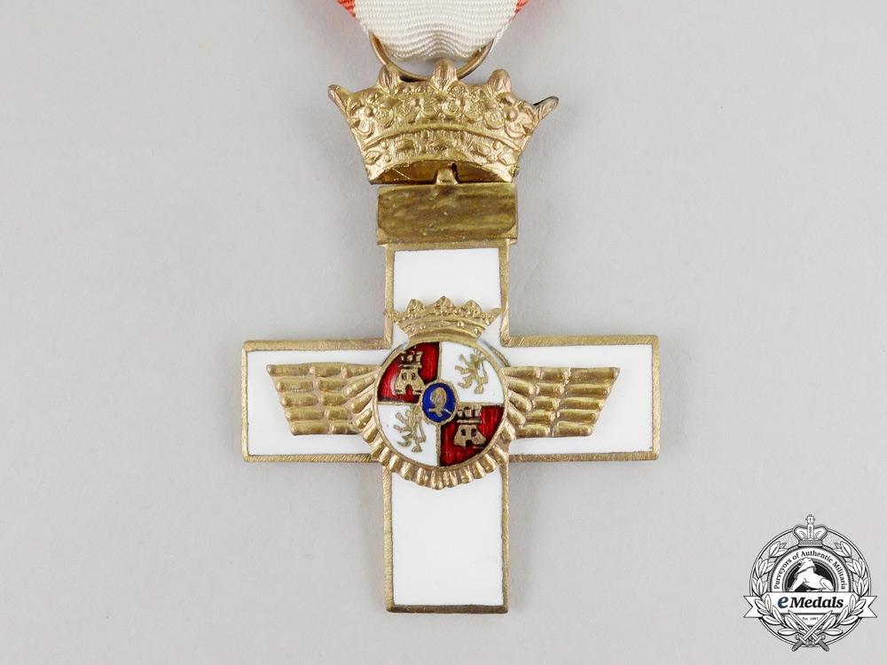 Spain, Franco Period. A Cross of Aeronautical Merit, I Class Cross with White Distinction