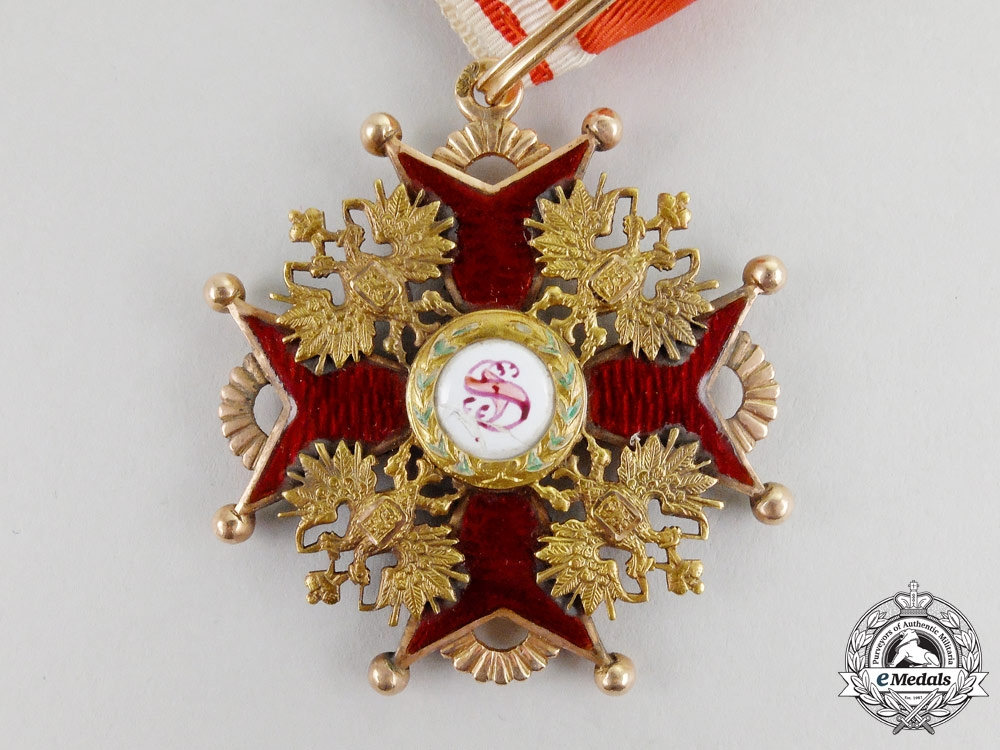 An Imperial Russian Order of St. Stanislaus; 2nd Class by Albert Keibel, St. Petersburg
