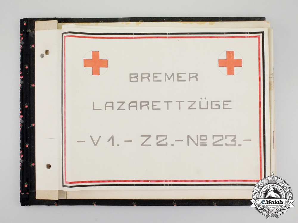 A Unique First War German Red Cross Hospital Train Photo Album