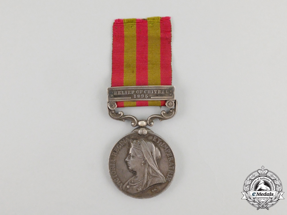 An 1895 Indian Medal to Corporal Gerald Cecil Barry