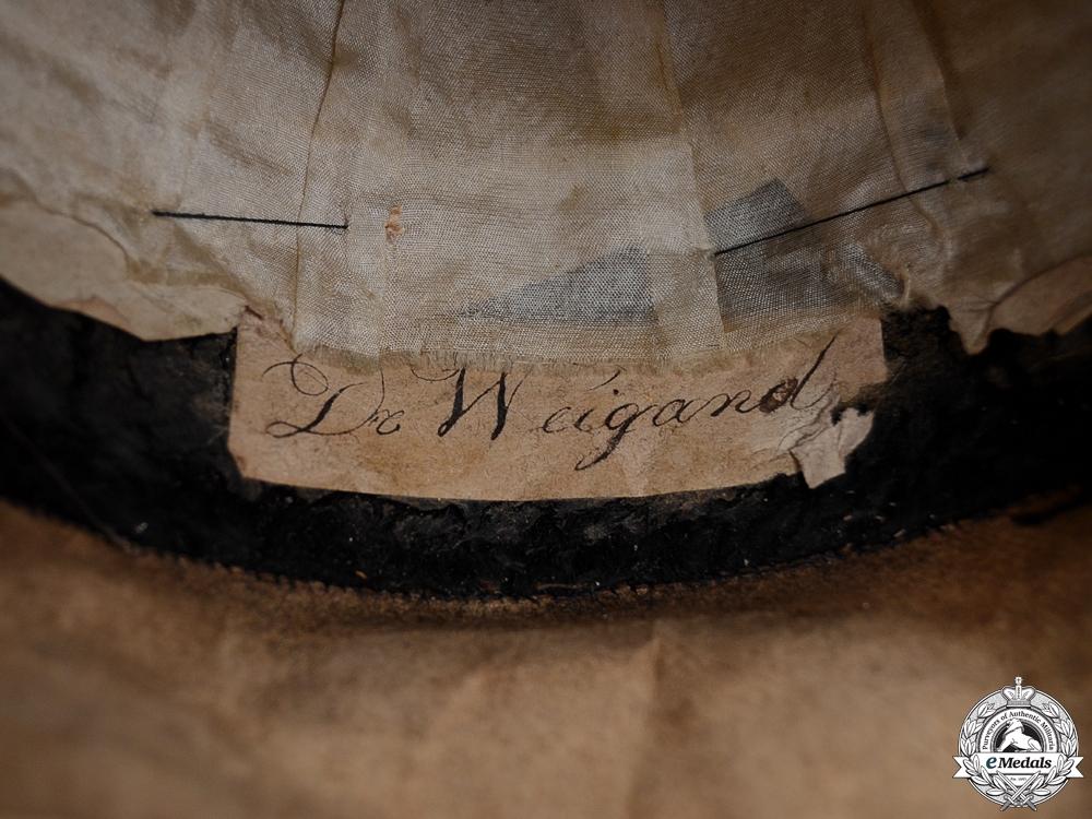 A Hessen Naval Bicorn Named to De Weigand