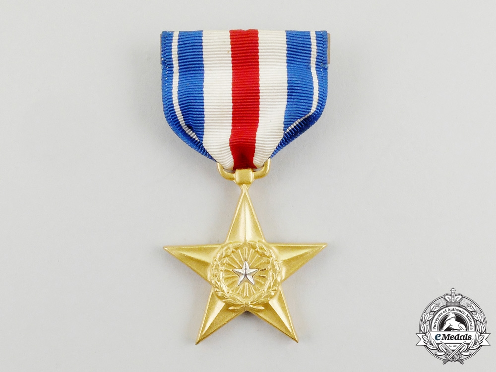 A Second War Cased American Silver Star Named to Thomas F. Matto