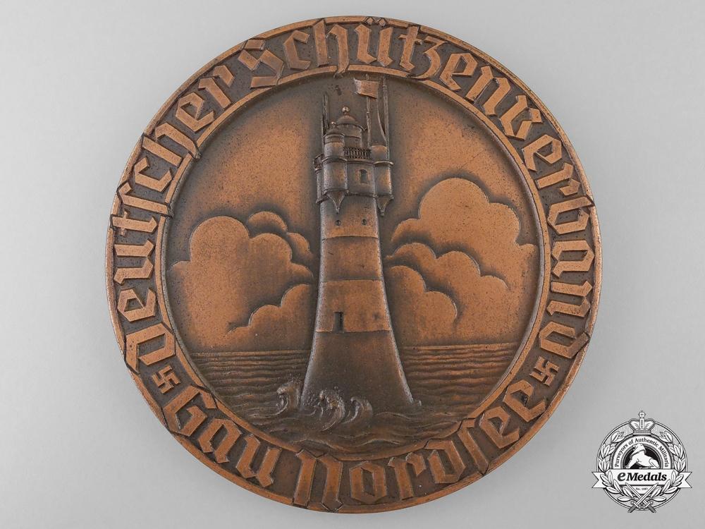 Germany. A 1937 North Sea District German Shooting Association Air Rifle Championship Medal