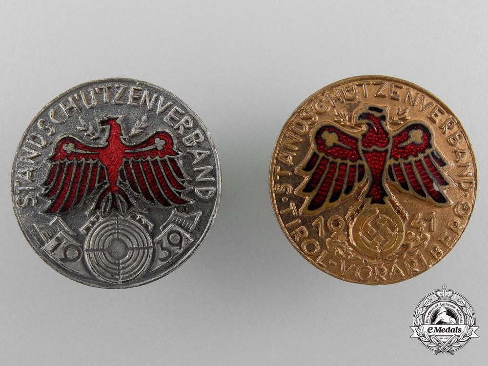 Two Tirol Shooting Awards 1939/1941