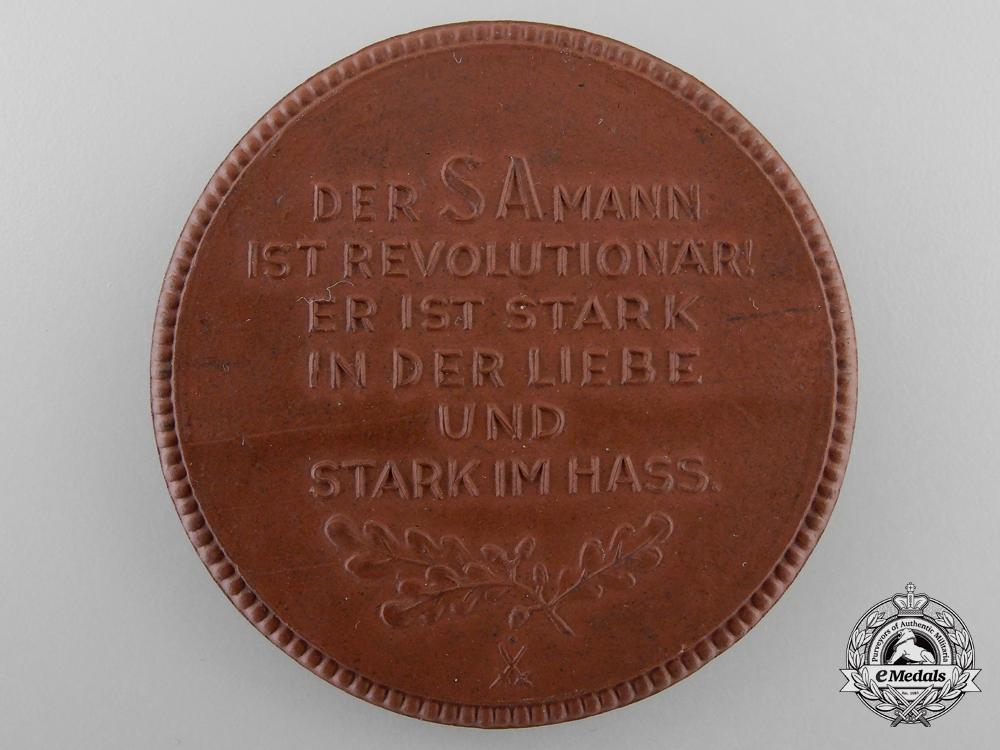 A Meissen Medallion; SA - GRUPPENAUFMARSCH DRESDEN 24./25. III. 1934