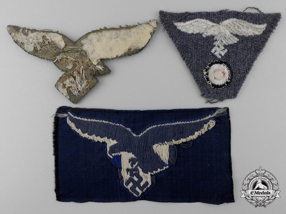 Three Luftwaffe Cloth Insignia