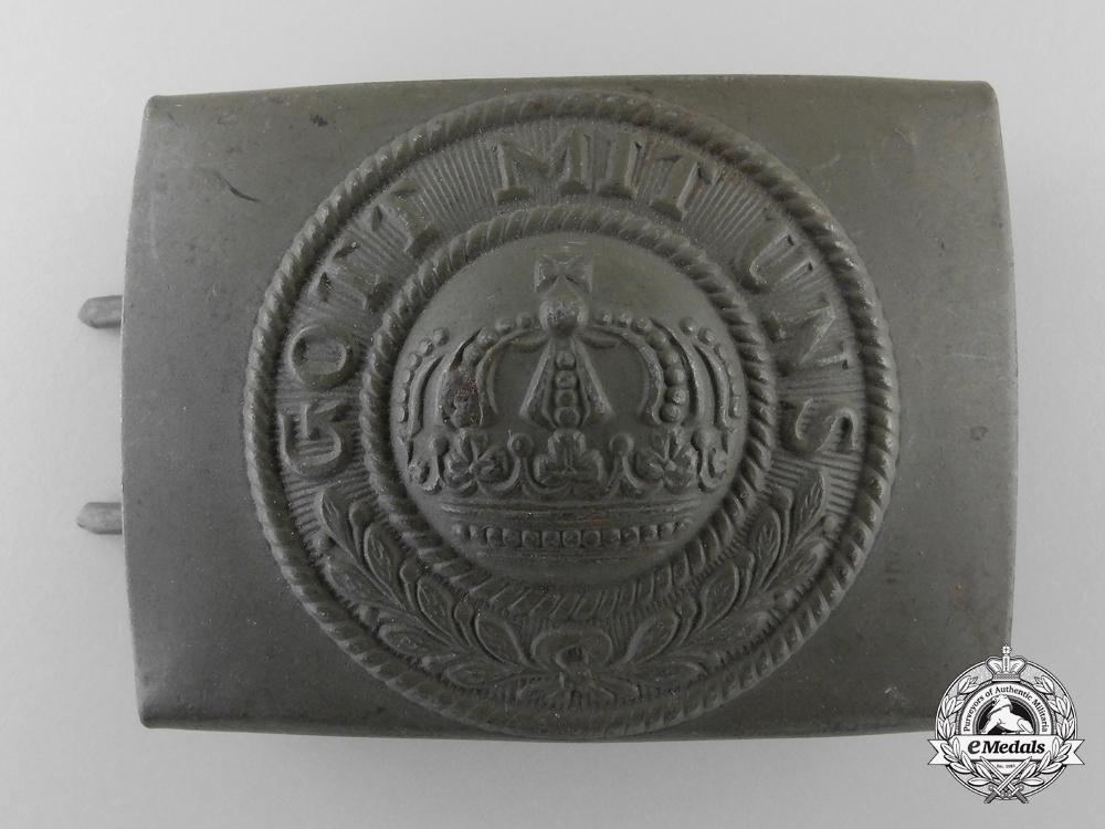 A Near Mint First War Prussian Belt Buckle