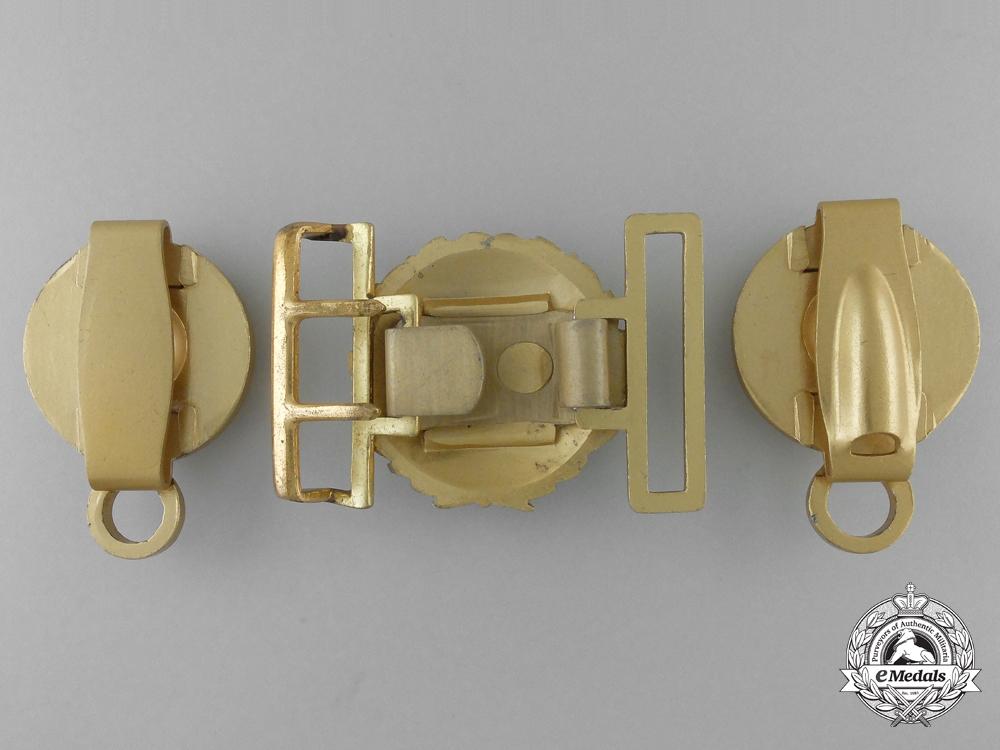 A German Line Officer's Undress Belt Buckle and Belt Fittings; Published