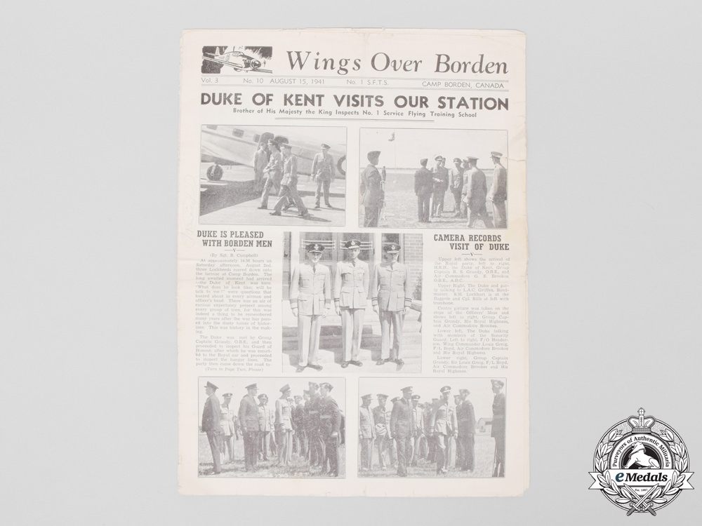 Seven Second War Royal Canadian Air Force (RCAF) Newsletters