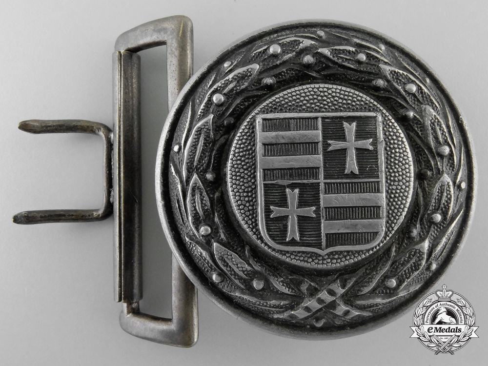 An Unidentified Fire Defence (Feuerwehr) Officer's Belt Buckle by Overhoff & Cie