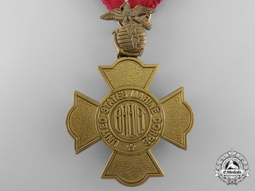 A United States Marine Corps Brevet Medal