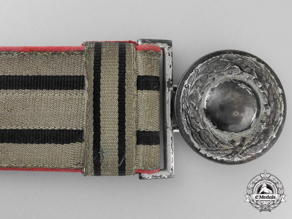 A German Fire Brigade Officer's Belt with Buckle