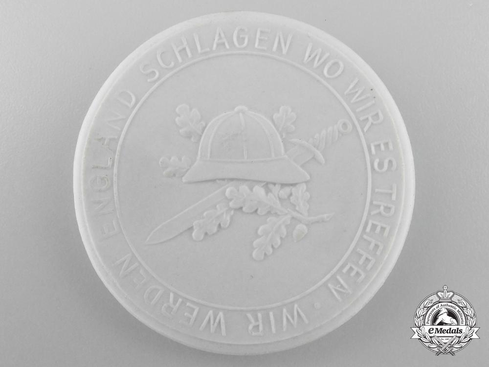 A Rare Panzer Afrikakorps Meissen Medallion