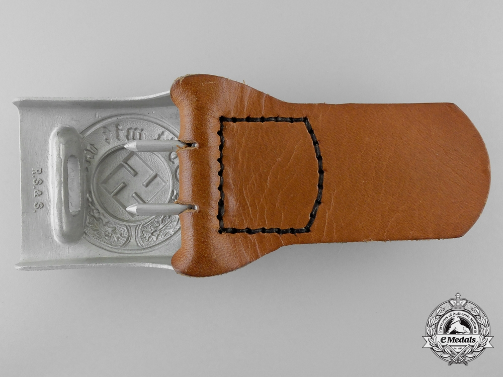 A German Police Belt Buckle by Richard Simm & Söhne