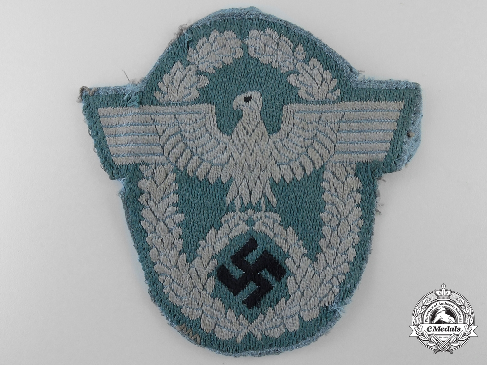 A Tunic Removed German Police Sleeve Eagle