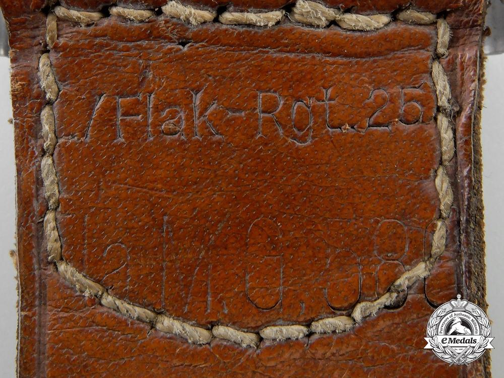 A Luftwaffe Belt Buckle; Unit Marked L/Flak Reg. 25