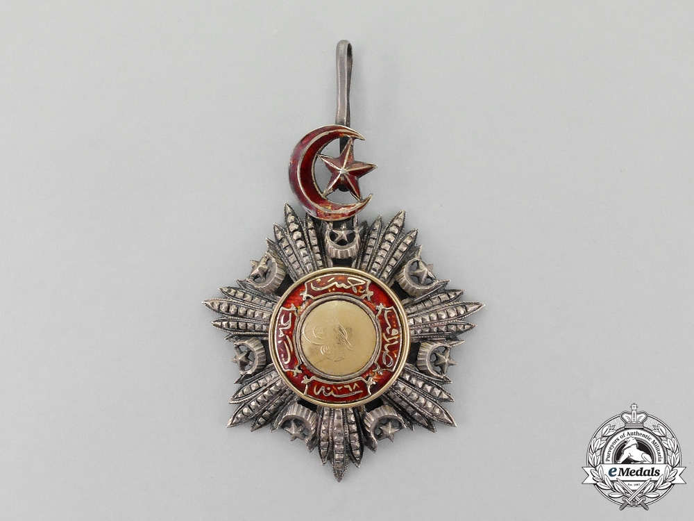 A Turkish Ottoman Empire Order of Medjidie (Mecidiye), Commander's Neck Badge, 3rd Class