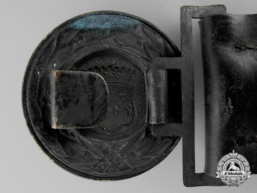 A Hanover Fire Defence Service Officer's Belt with Buckle