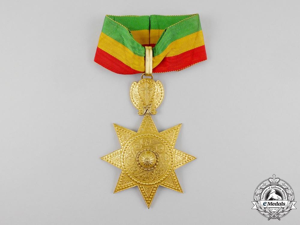 An Order of the Star of Ethiopia; 2nd Class Commander