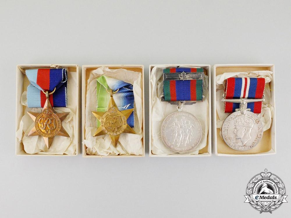 A Memorial Group to Steward Watts, RCNVR who was Torpedoed Aboard HMCS Spikenard