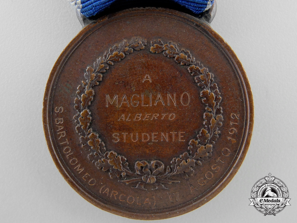 An Italian Al Valore Di Marina for 1912 Action