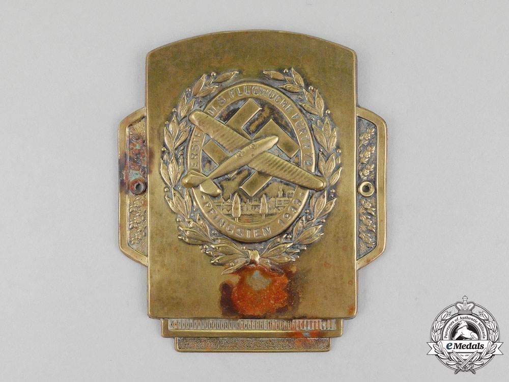 A 1933 First National Socialist Week of Flight in Fürth Car Plaque