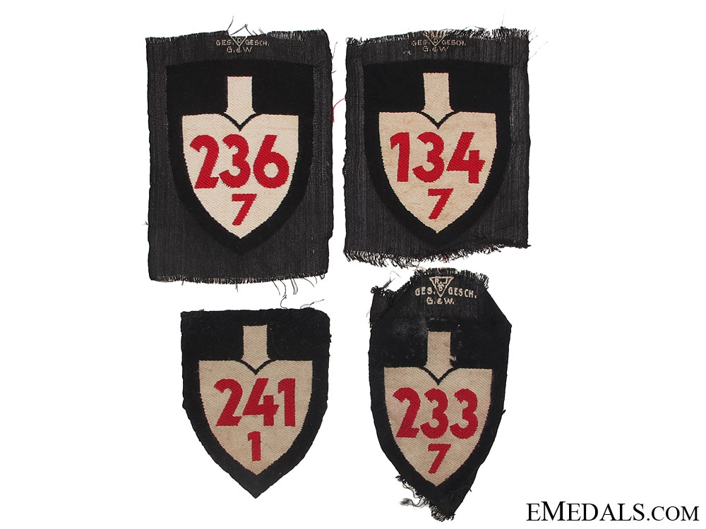 Lot of Four RAD Cloth Insignia