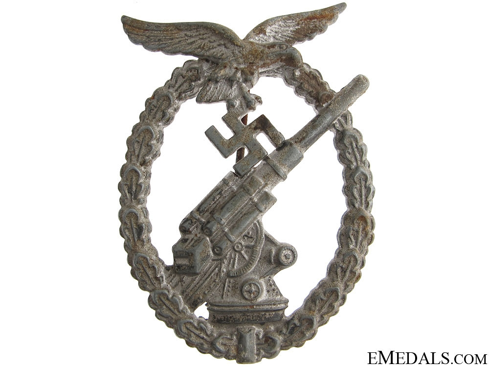 Luftwaffe Flak Badge - GWL