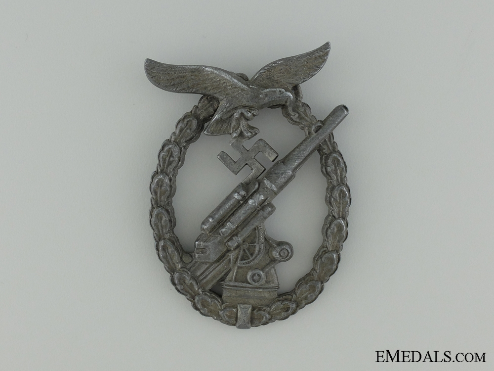 Luftwaffe Flak Badge, in Zinc, Unmarked