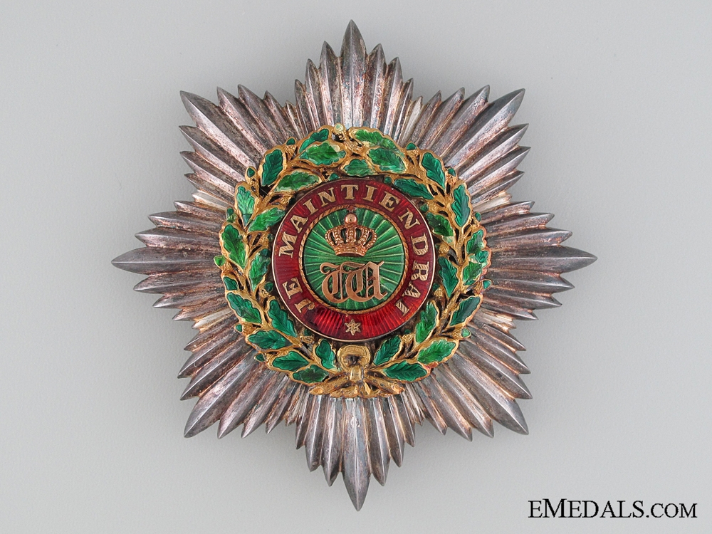 Luxembourg, Order of Oak Crown, Breast Star