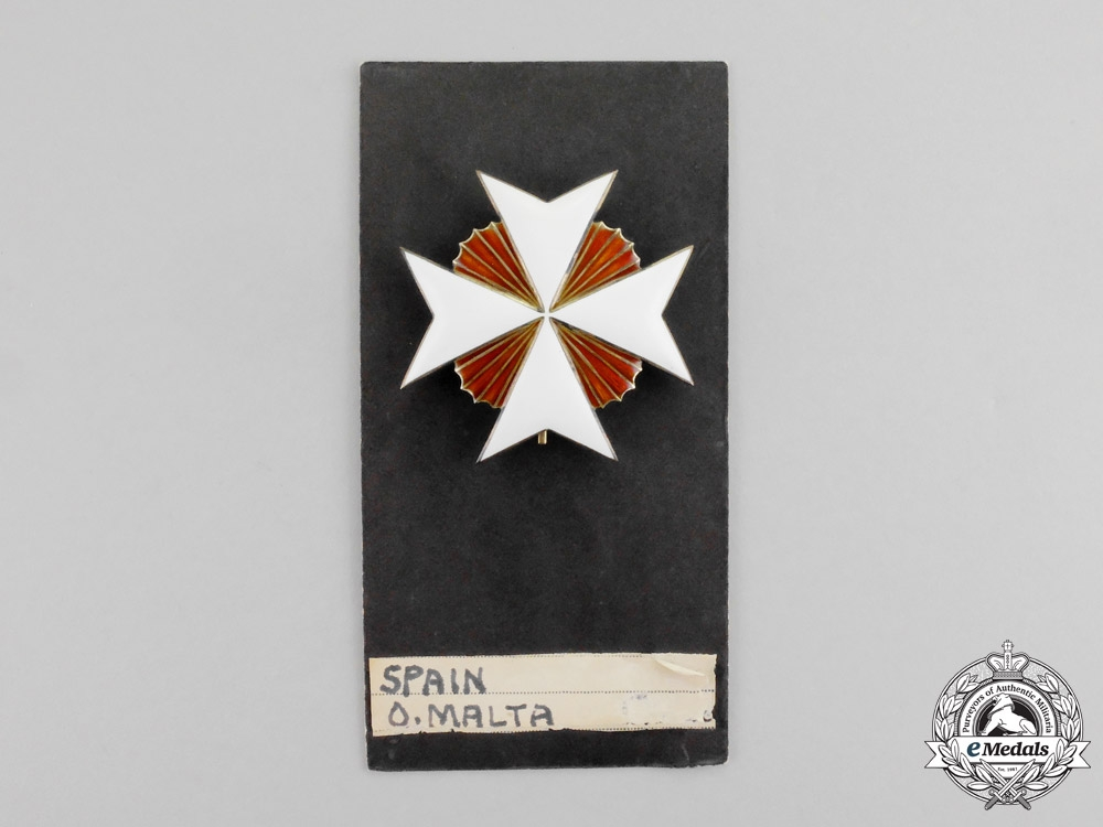 Spain. An Order of the Knights Hospitaller of St.John, Breast Star, c.1870 by Godet