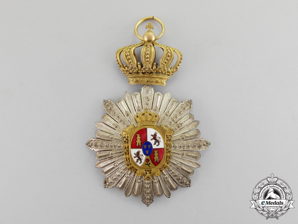Spain. An Unidentified Alfonso XII Women's Order, Breast Badge, c.1900