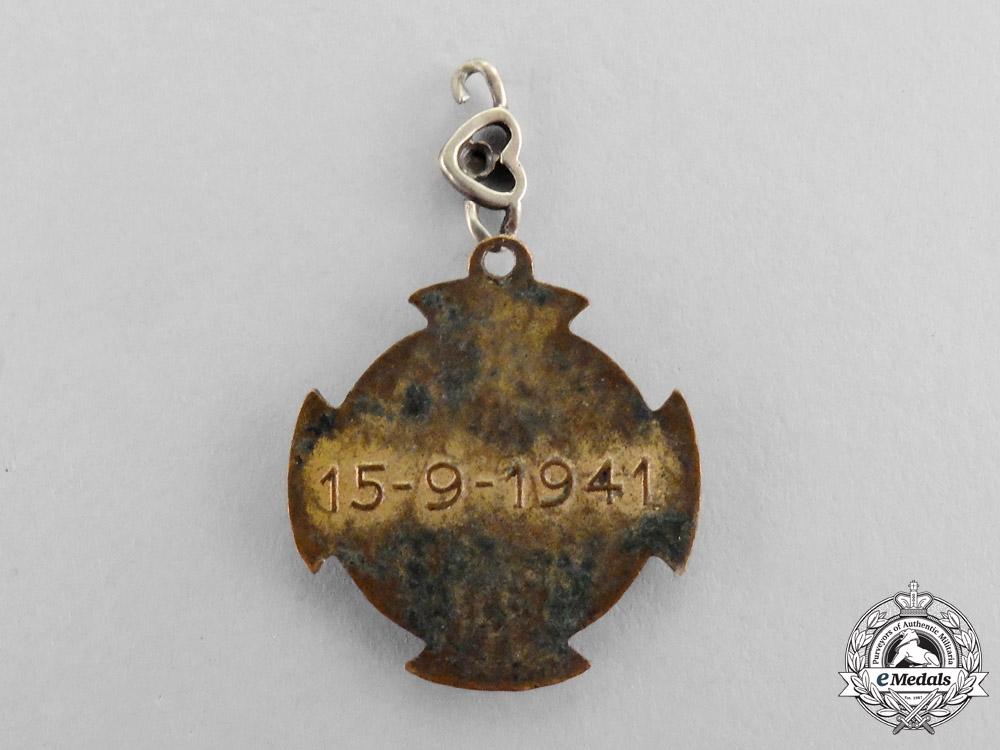 Serbia, Kingdom. A Rare Miniature Badge of the Serbian Volunteer Corps, c.1942