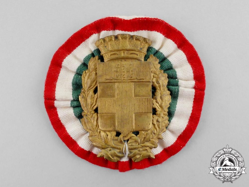 Italy, Kingdom. A Pith Helmet Badge