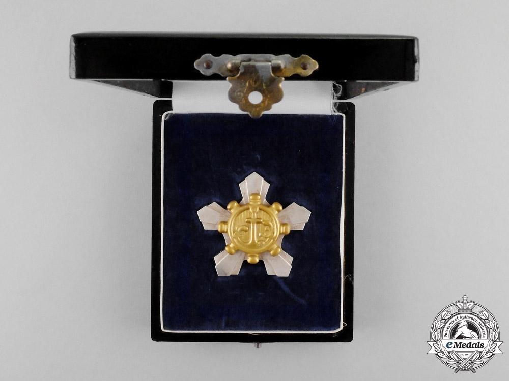 Japan, Empire. A Diligent Labour Medal for Sailors, c.1942