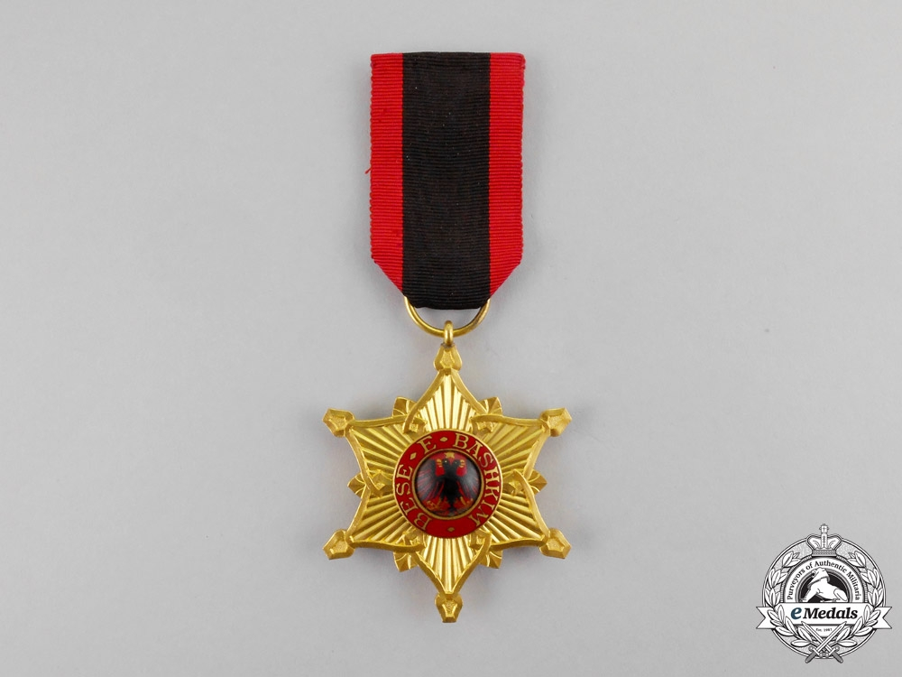 Albania. An Order of the Black Eagle, Officer's Badge, c.1930