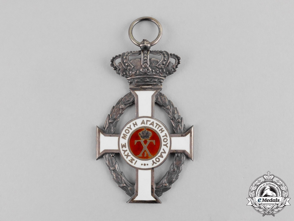 Greece. A Royal Order of George I, Knight's Badge, c.1918