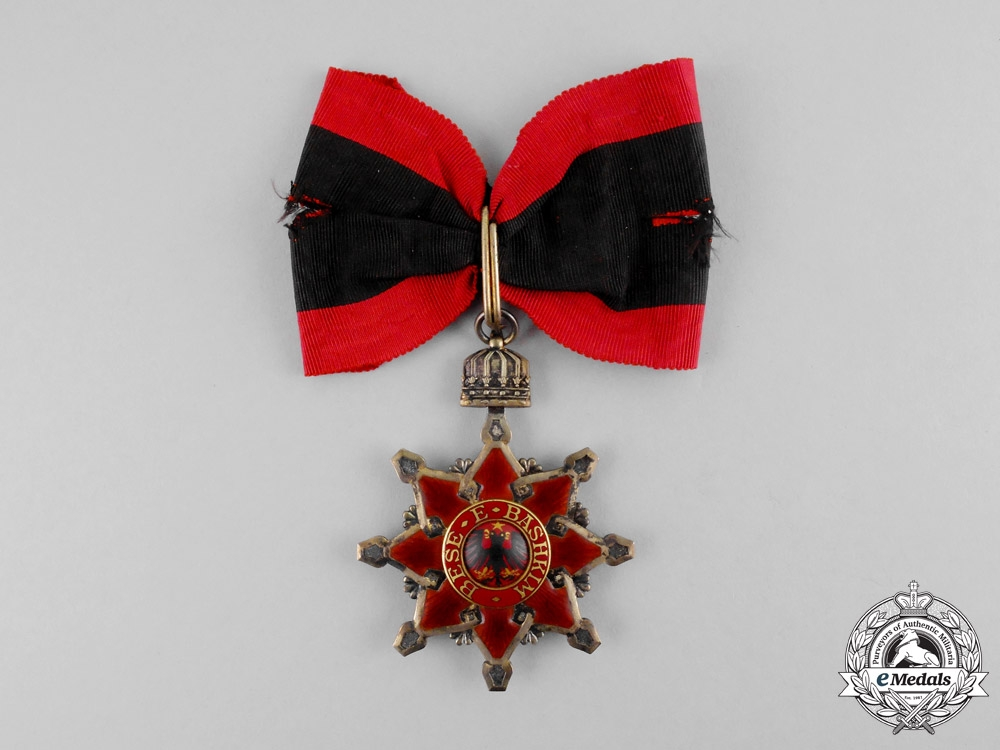 Albania. An Order of the Black Eagle, Grand Officer's Set, c.1917