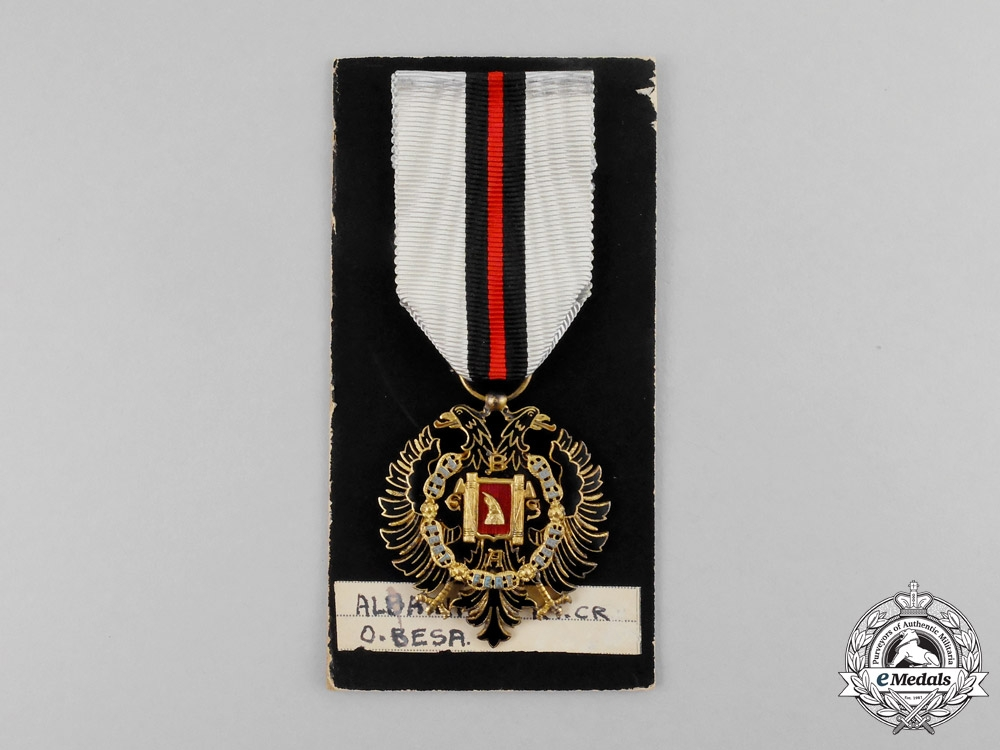 Albania, Italian Protectorate. An Order of Fidelity, Knight's Badge, c.1942