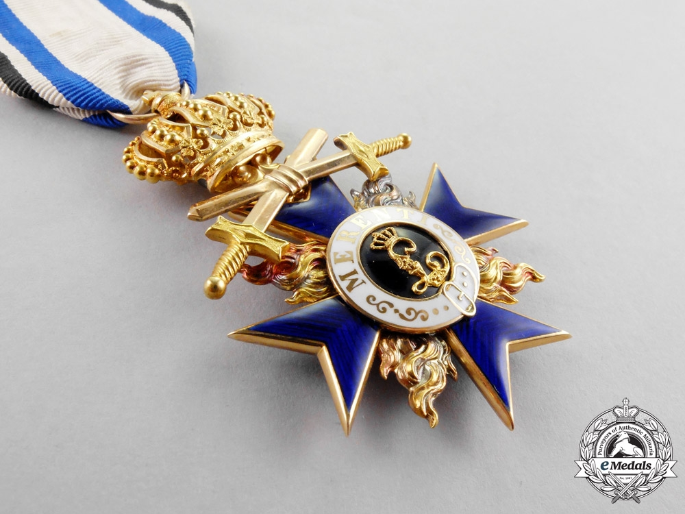 Bavaria. An Order of Military Merit in Gold, Third Class with Crown and Swords, by Jacob Leser