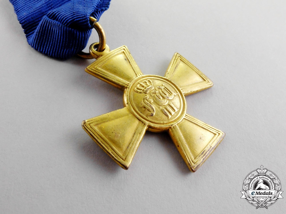 Prussia. A 25-Year Long Service Cross for Officers, c.1840