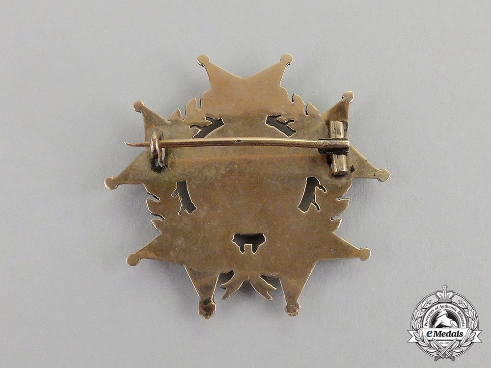 United States. A Legion of Honor Membership Badge in Gold, c.1890
