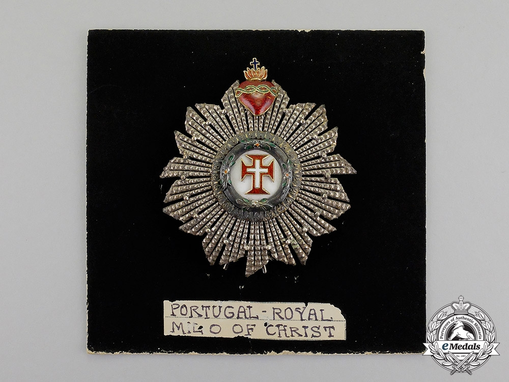 Portugal, Kingdom. A Military Order of the Christ, Knight Commander's Star, c.1910