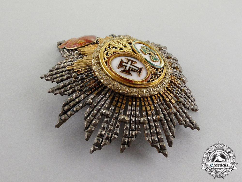 Portugal, Kingdom. A Riband of the Two Orders, Knight Commander's Star, c.1900
