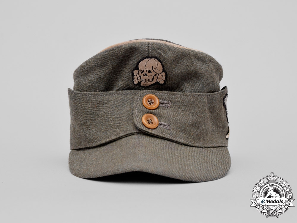 Immediate Credit Card >> Germany. A Waffen-SS M43 Mountain Officer's Field Cap