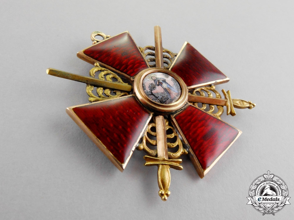 Russia, Imperial. An Order of St. Anne in Gold, 2nd Class with Swords, c.1900